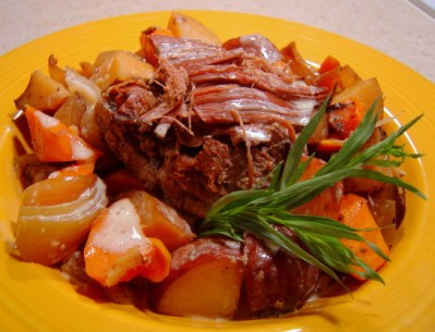 Savory Crock Pot Pot Roast Recipe - Genius Kitchen