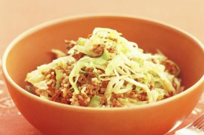 Beef and cabbage stir-fry