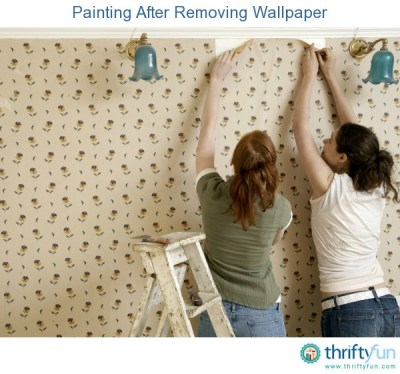 Painting After Removing Wallpaper | ThriftyFun