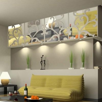 Removable DIY 3D Acrylic Mirror Wallpaper - LovDock.com