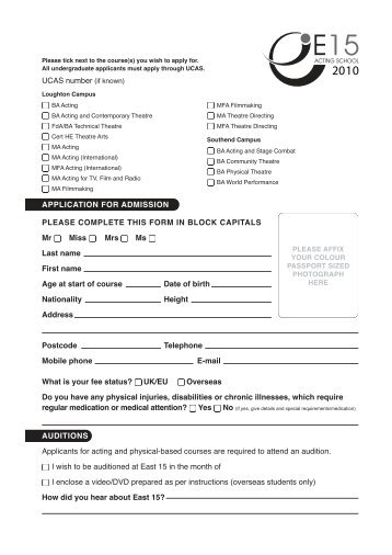 Student Employment Application Form Please bring completed ...