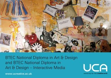 BTEC National Diploma   Teach ICT BTEC National Diploma in Art   Design and   University for the