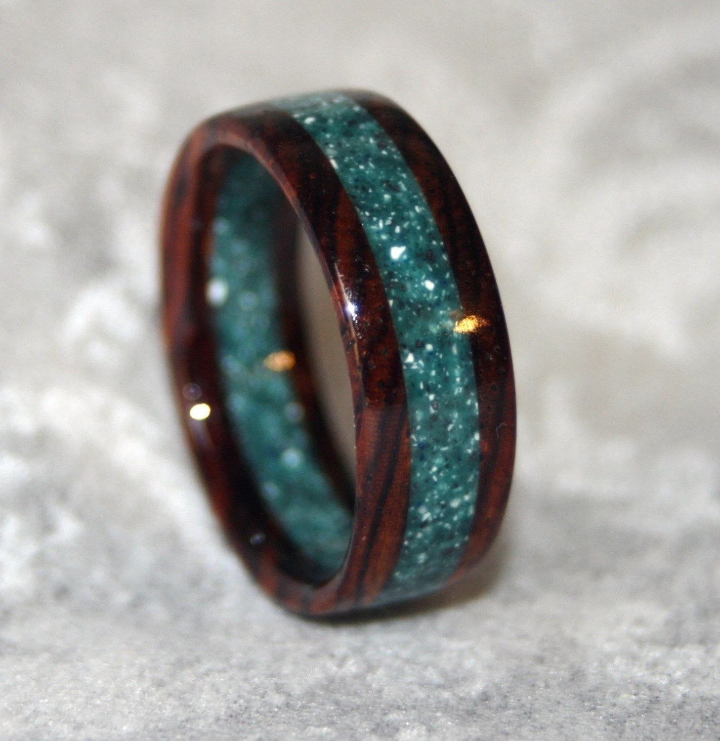 custom wooden or corian wedding band or wood wedding bands Custom Wooden or Corian Wedding Band or Ring zoom