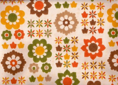 Vintage 1970s Wallpaper Fab funky 70s flowers. by Pommedejour