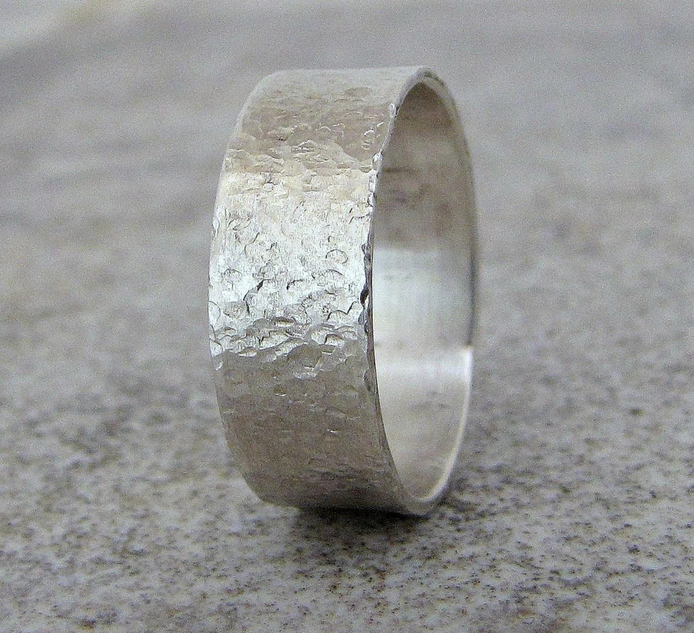 mens wedding band hammered silver etsy mens wedding bands Mens Jewelry zoom