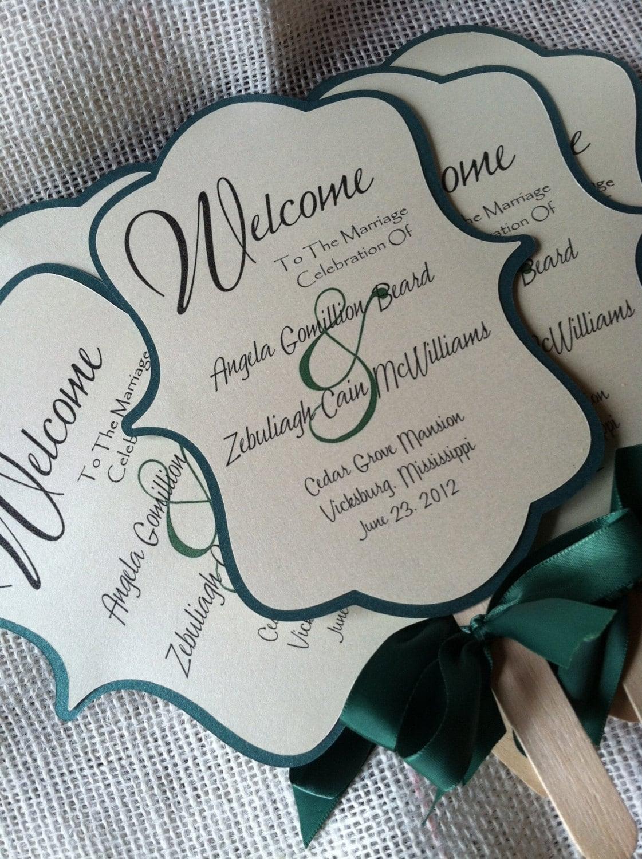 wedding fan program specially cut and wedding fans zoom