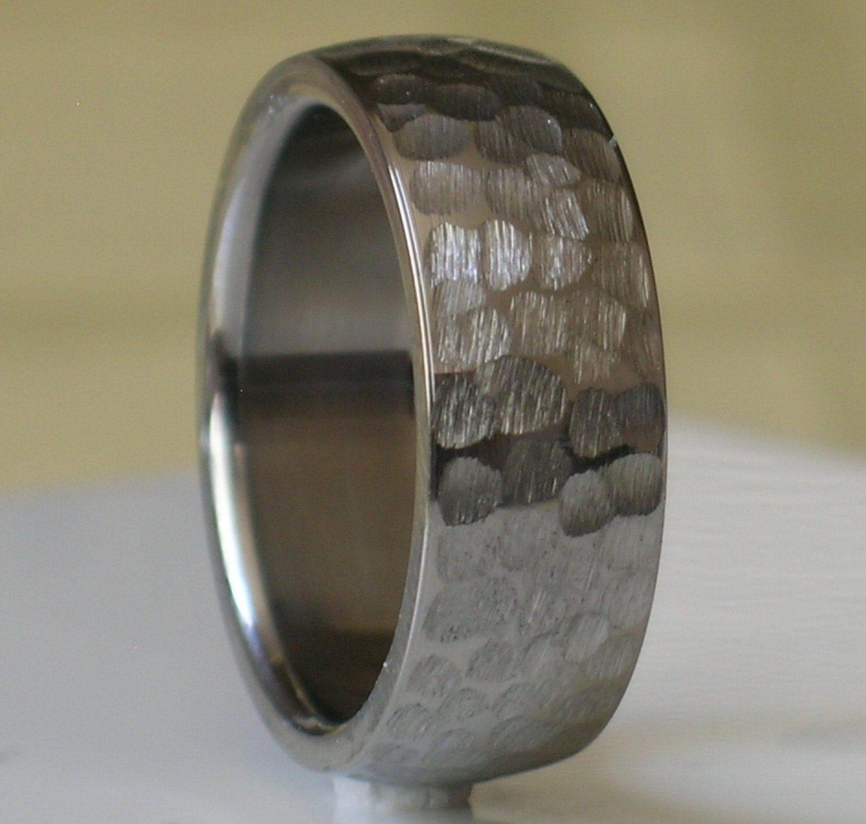 tungsten hammered wedding band tungsten hammered wedding band Tungsten Wedding Band Comfort Fit Custom Designed by usajewelry