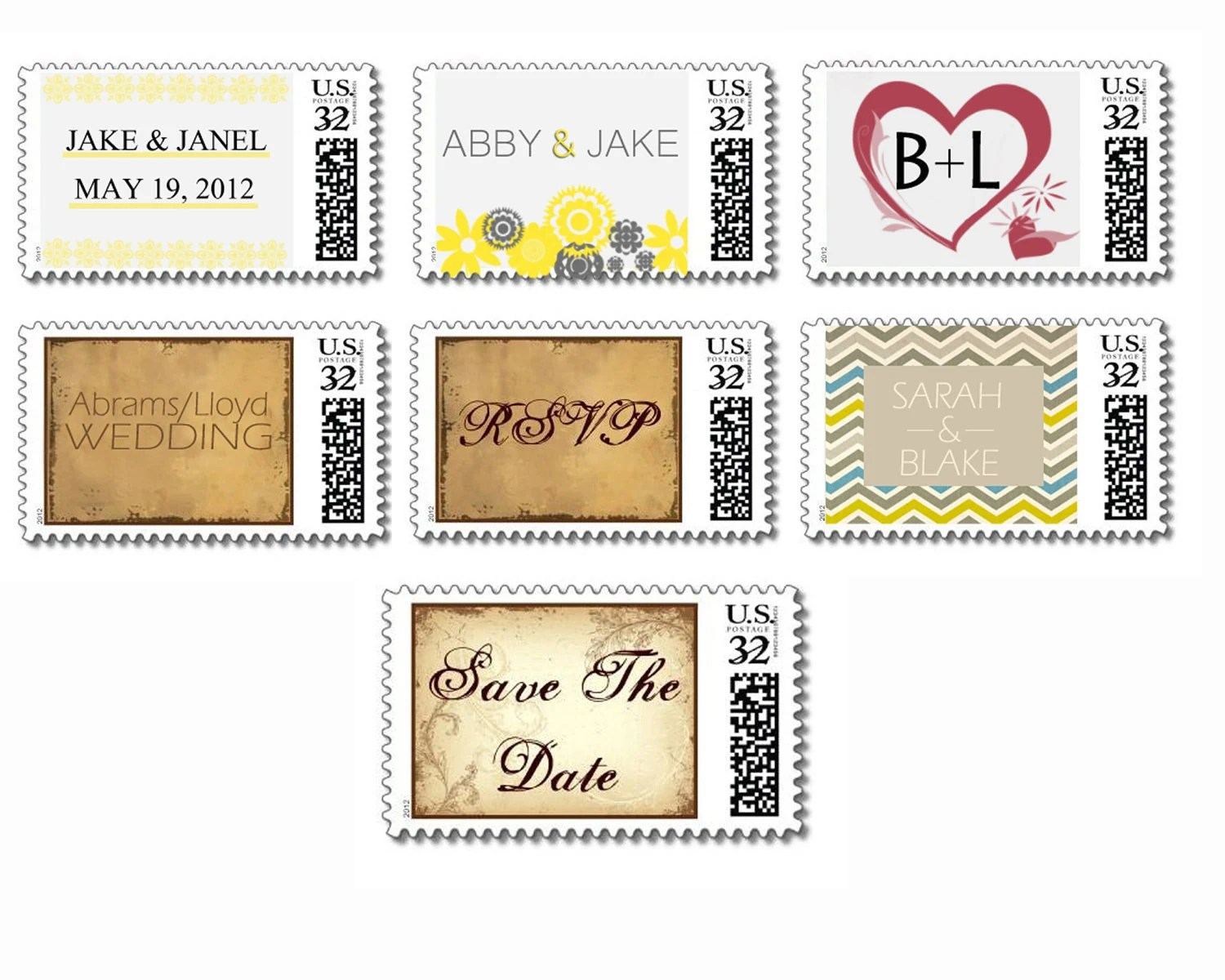 custom postage stamps for wedding invitations wedding invitation stamps Custom Postage Stamps For Wedding Invitations