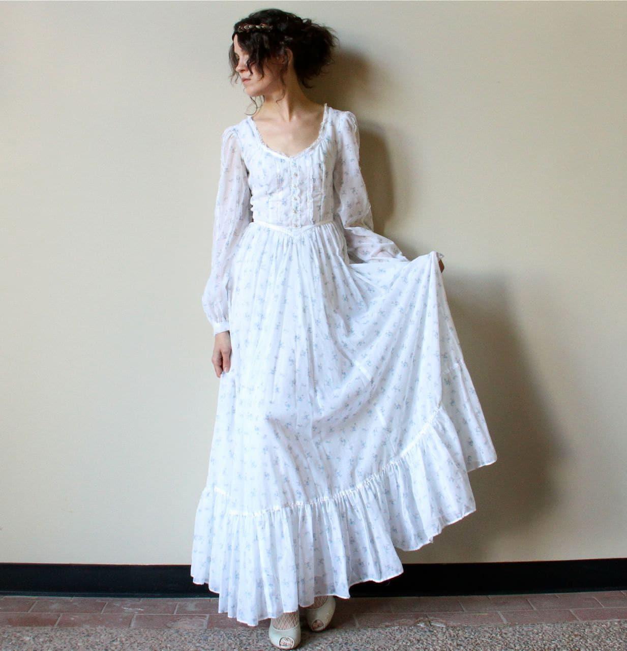 70s gunne sax boho wedding dress fall simple bohemian wedding dresses zoom