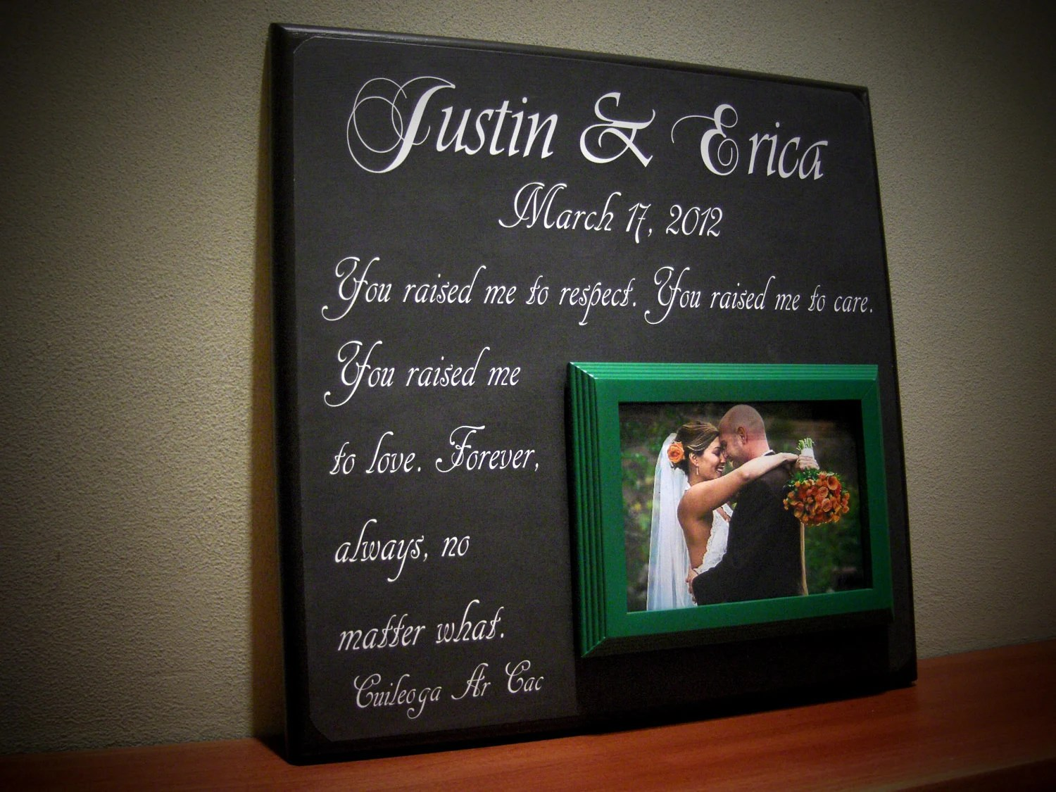 view parent wedding gifts Personalized Wedding Gift for Parents Parents by YourPictureStory