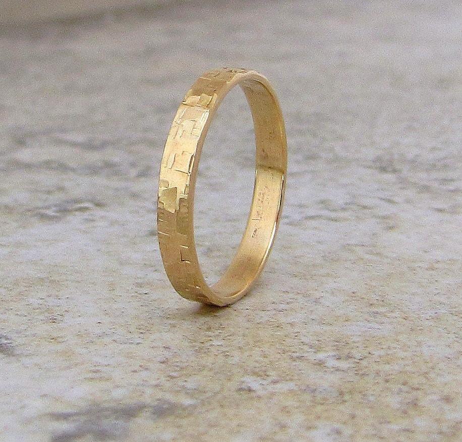 mens wedding band hammered gold wedding hammered wedding band zoom