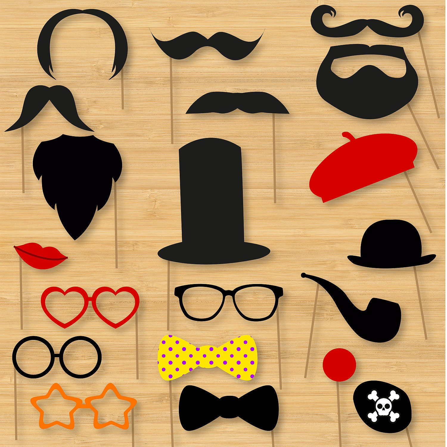 diy photo booth props classic moustaches wedding photo booth props zoom