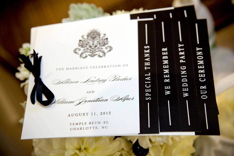 black and white wedding programs black wedding programs zoom