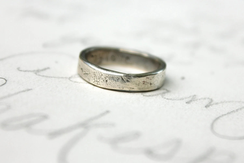 silver wedding band ring womens mens rustic wedding bands rustic wedding band my zoom