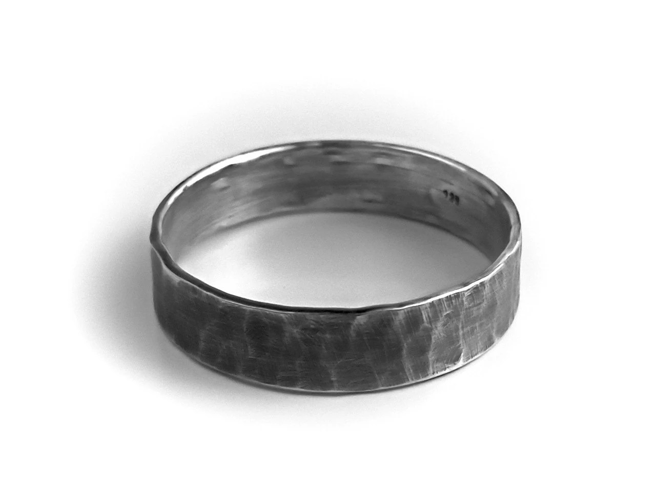 mens sterling silver ring rustic wedding mens hammered wedding bands zoom