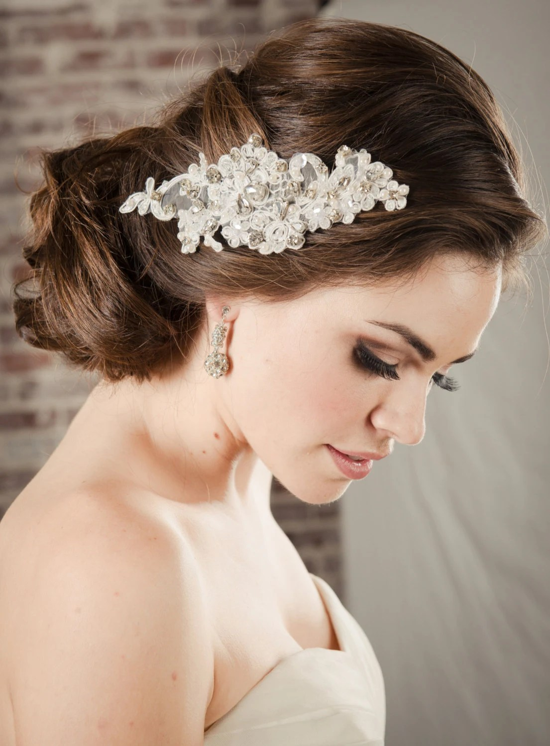 hair accessories bridal lace comb pearl wedding hair accessories zoom