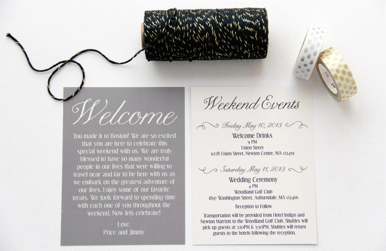 wedding welcome bag cards weekend wedding welcome bags zoom
