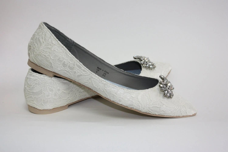 wedding flats wedding flats Wedding Shoes Lace Flats Lace Wedding Shoes Crystals Wedding Flats Shoes Crystals Downton Abby Vintage Shoe Parisxox