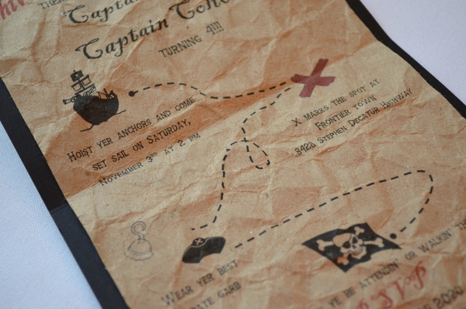 pirate birthday party invitations map wedding invitations zoom