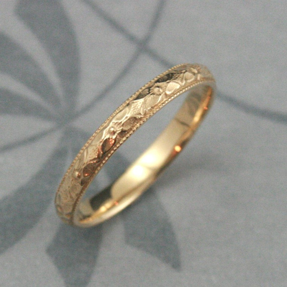 orange blossom ring 14k gold renaissance orange wedding rings zoom