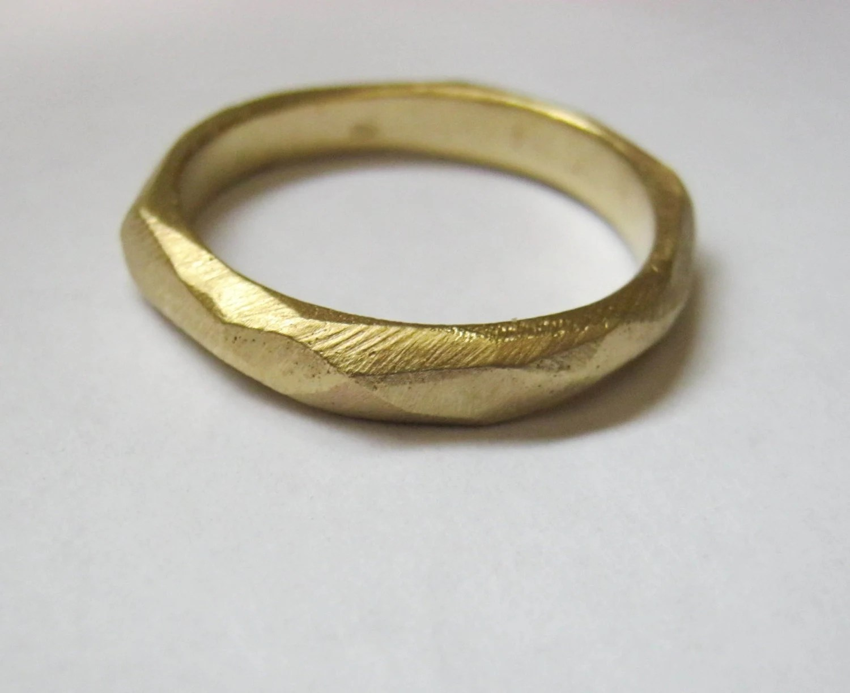 14k gold mens wedding band womans men wedding band zoom