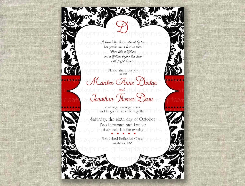 do it yourself wedding invitations templates damask wedding invitations damask wedding invitation templates free