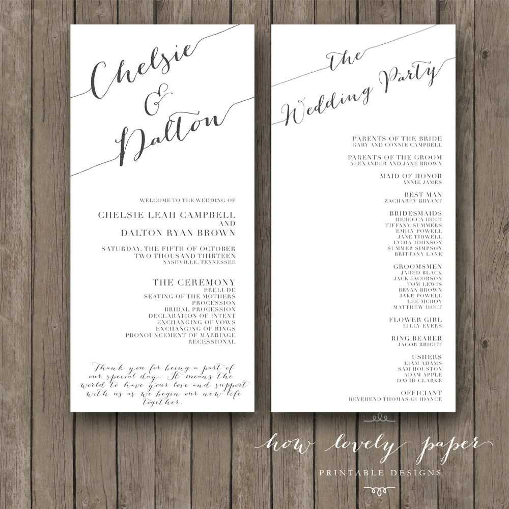 creative wedding programs wedding programs wedding program