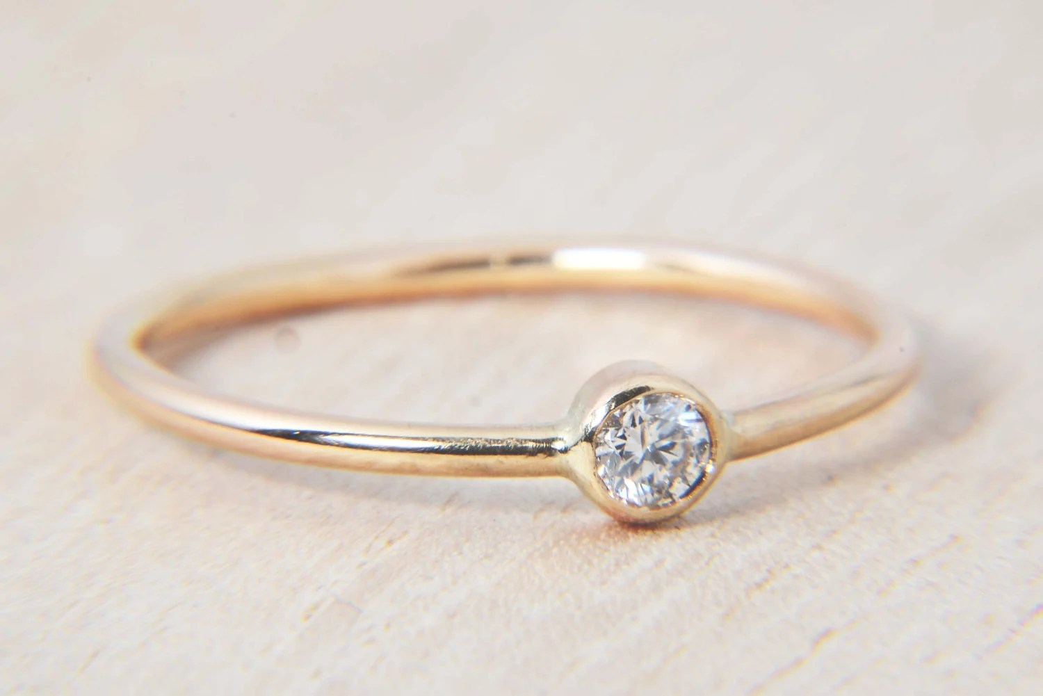 simple 11ct diamond ring in 14k gold dainty wedding bands zoom