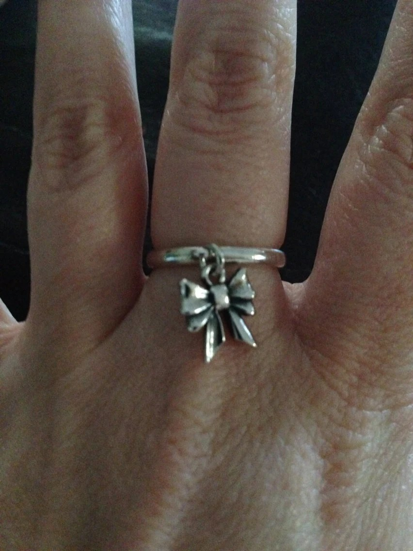 james avery sterling silver bow ring james avery wedding bands James Avery Sterling Silver Bow Ring Size 5 5 zoom