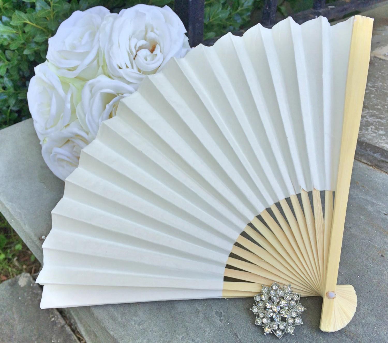 ivory wedding paper fans for wedding wedding fans zoom