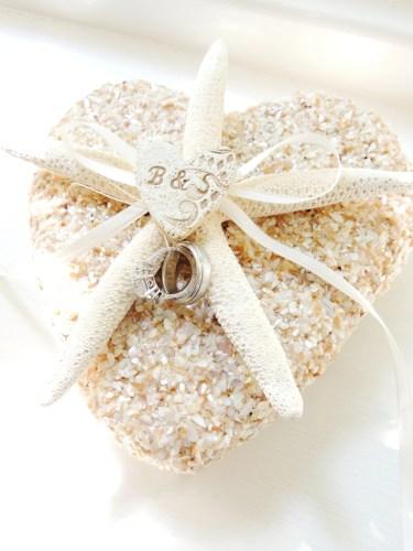 starfish shell ring pillow beach wedding wedding ring holder Wedding Ring Holder Pillow Alternative Ivory Pencil zoom