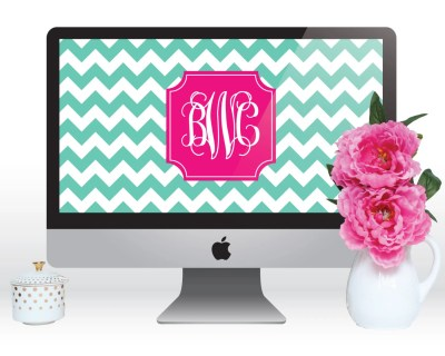 Personalized Monogram Computer Wallpaper Laptop by ThePreppyGreek
