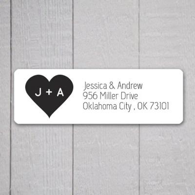 Wedding Invitation Return Address Labels Wedding Stickers
