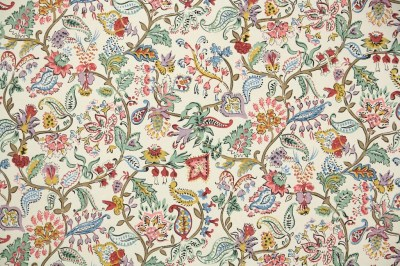 1900's Antique French Wallpaper French Floral Paisley