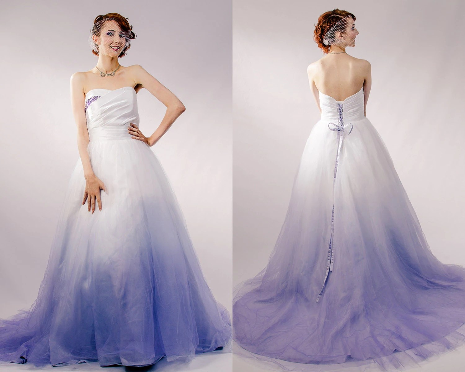 dip dyed wedding dress purple ombre purple dresses for wedding zoom
