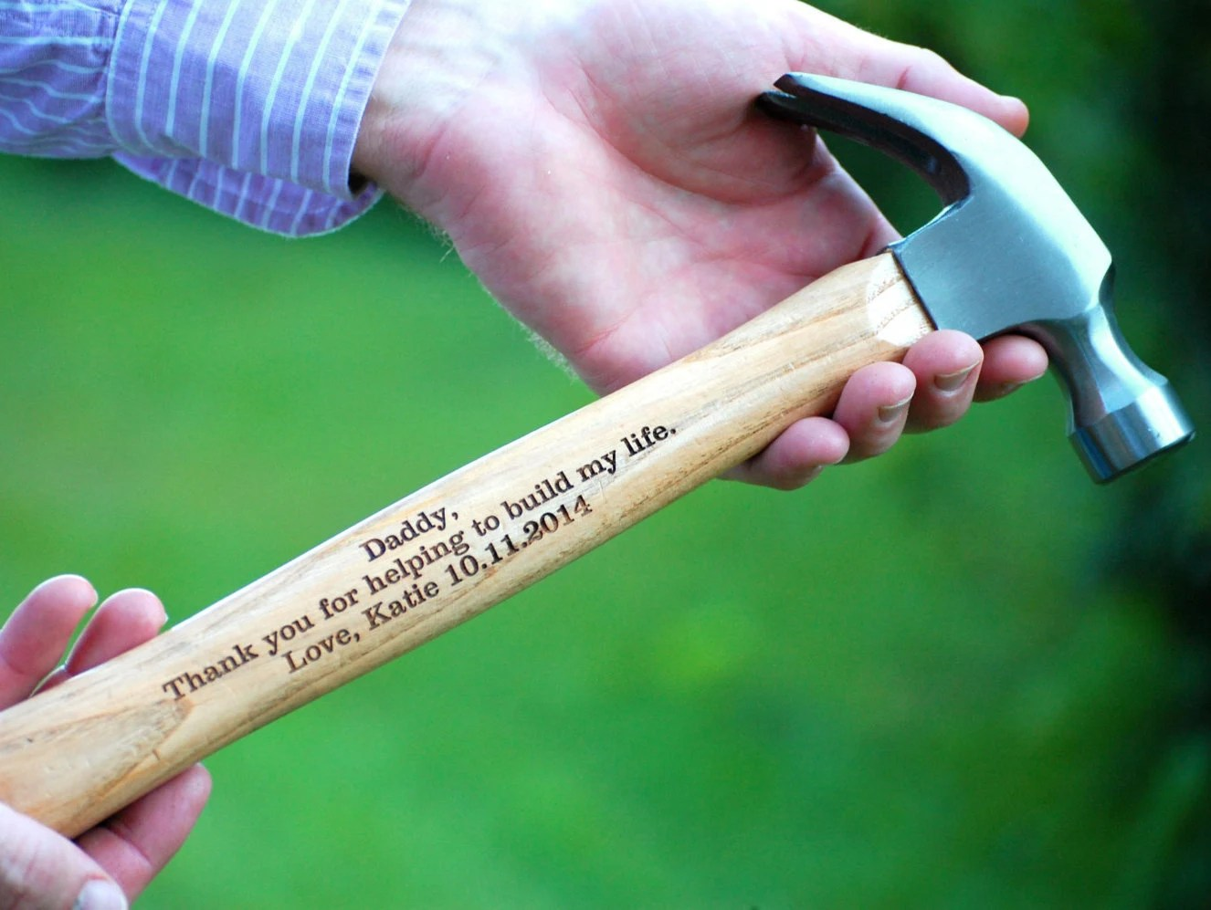 personalized hammer father of the wedding gift for bride zoom