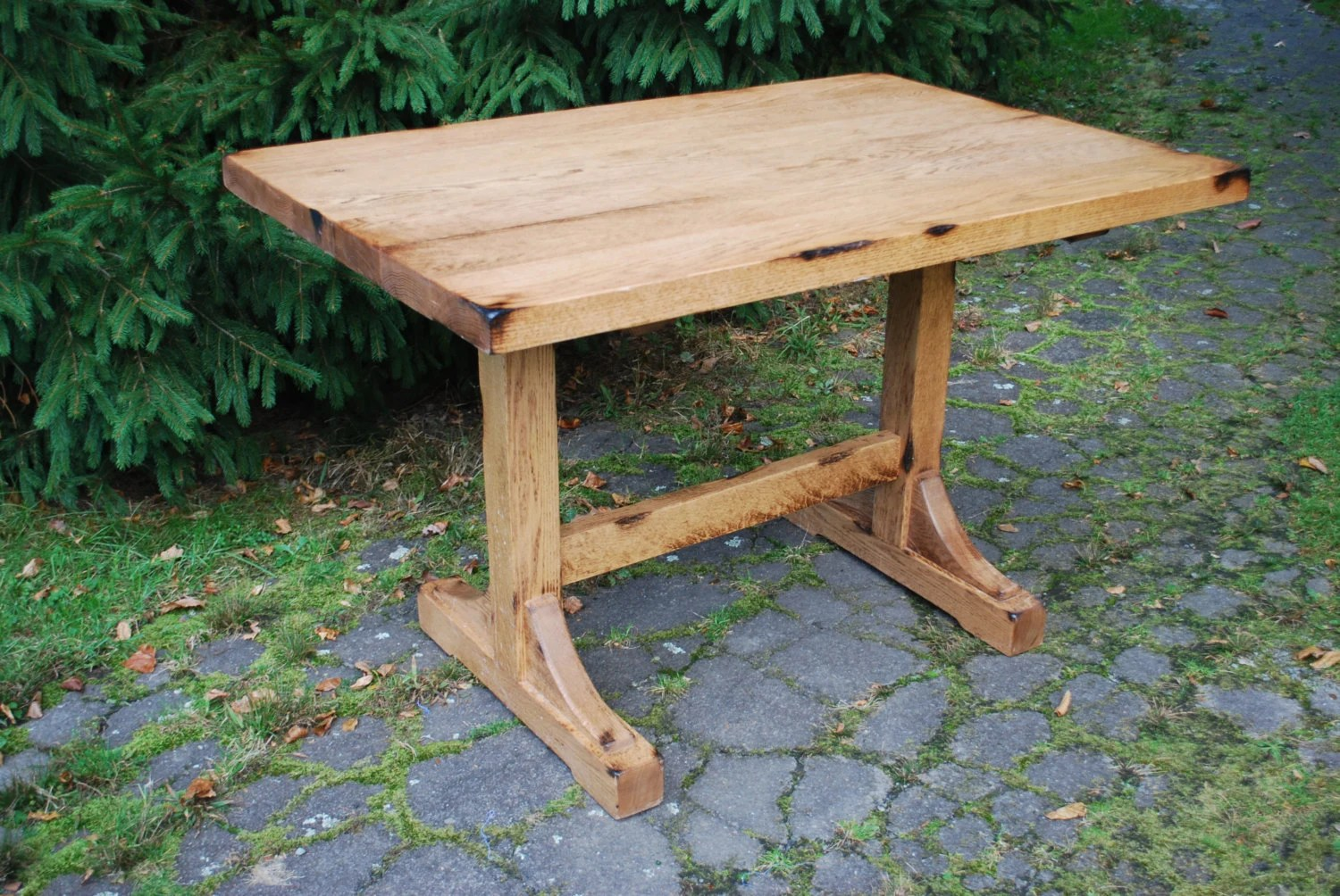 oak dining table s kitchen table The Bodhi Breakfast Nook Trestle Table Farmhouse Dining Table Oak Kitchen Table Distressed Wood Table