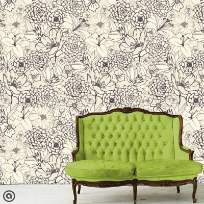 Removable Wallpaper-Just Sketched Peel & Stick Self Adhesive