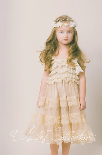 eloise lace rustic flower girl dress country rustic wedding dresses zoom
