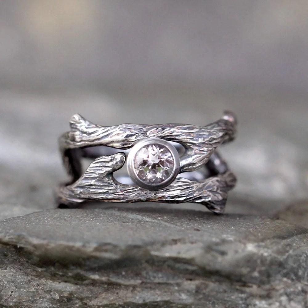 twig style engagement ring and wedding etsy wedding bands zoom