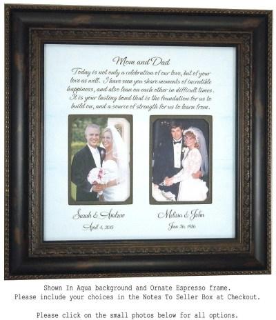 Parents Wedding Gift Wedding Frame for by PhotoFrameOriginals