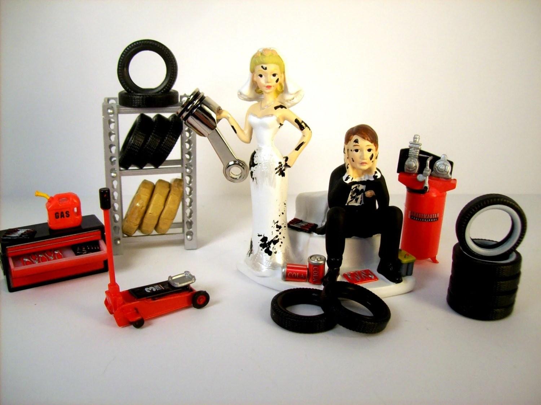 funny wedding cake topper mechanics auto wedding cake toppers funny zoom