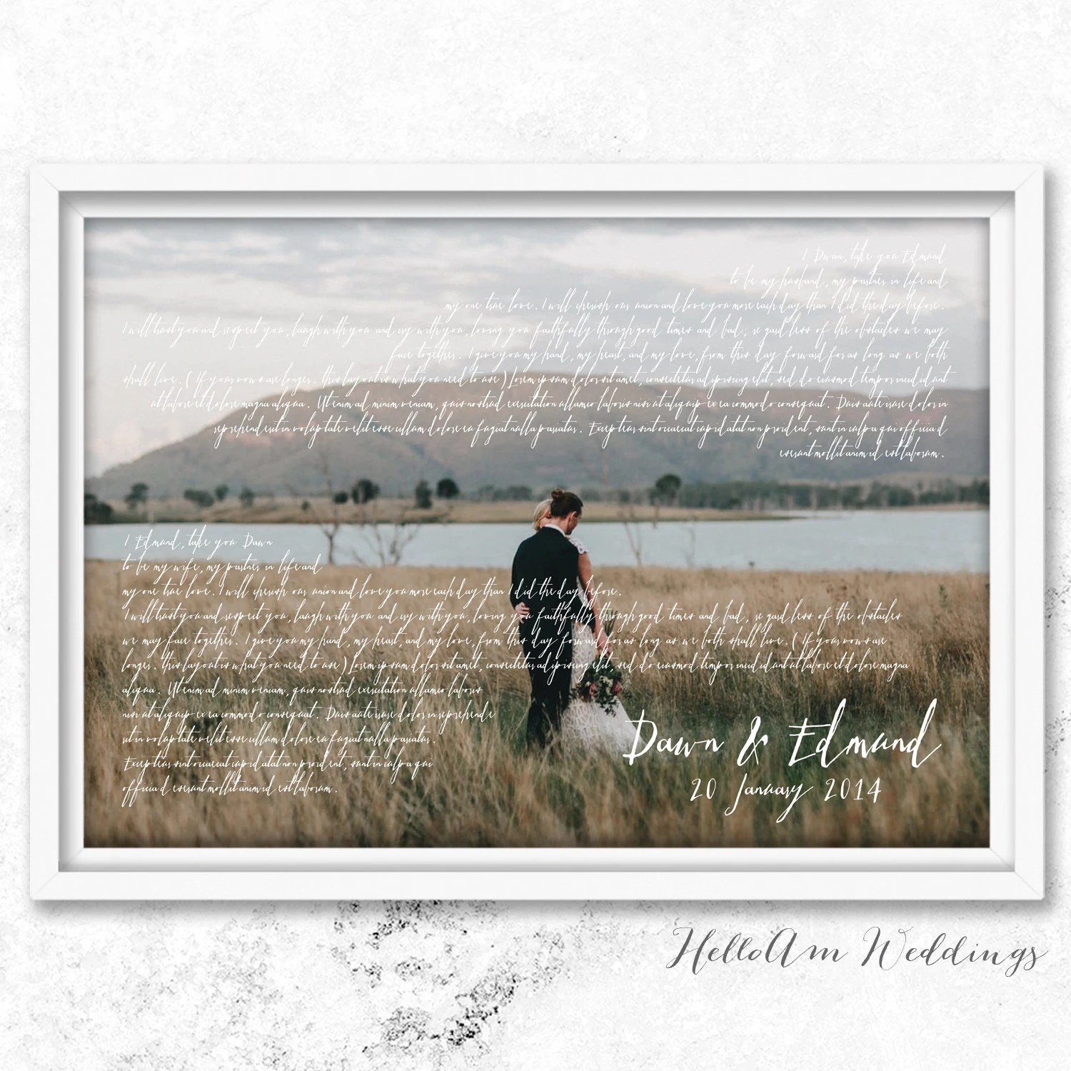 one year anniversary first wedding anniversary gift wedding vows framed 1st anniversary gift Mr and mrs wedding gift first wedding anniversary gift for him wedding gift idea vow renewal