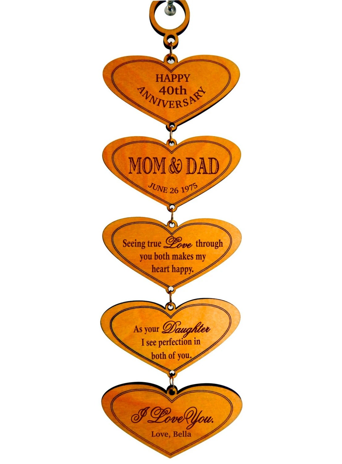 anniversary gift for parents parent wedding gifts 40th Wedding Anniversary Gift for Mom and Dad from Daughter Gift for my Parents on