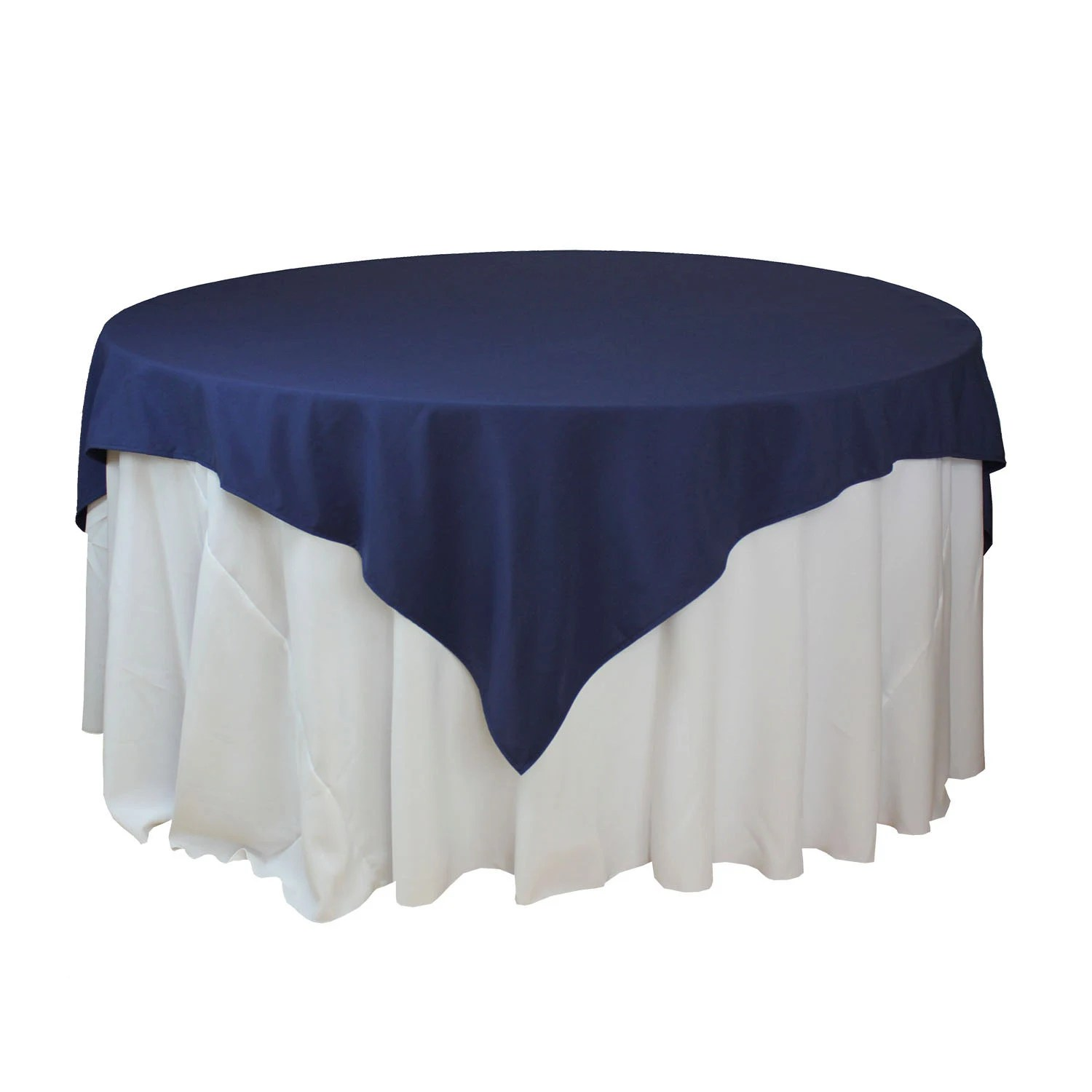 navy blue tablecloth tablecloths for wedding 72 72 inches Navy Blue Table Overlays Square Navy Blue Tablecloths Matte Table Overlays for 5 FT Round Tables Wholesale Table Linens