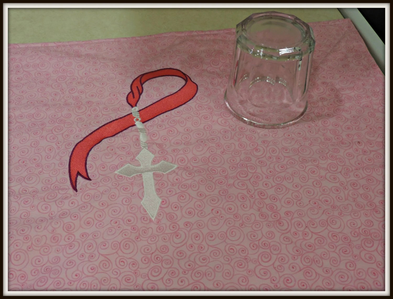 page 5 kitchen countertop protectors counter protector great cook kitchen towel 15 00 pink cancer ribbon and cross Dish mat hope dish drying towel rosary kitchen mat