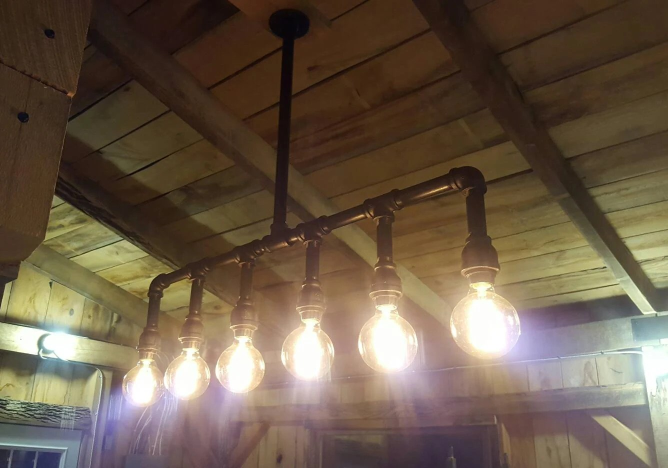 farmhouse lighting farmhouse kitchen lighting fixtures Industrial Lighting Rustic Kitchen Island Ceiling Light Modern Industrial Edison Bulb Kitchen Chandelier Farmhouse Lighting FREE SHIPPING