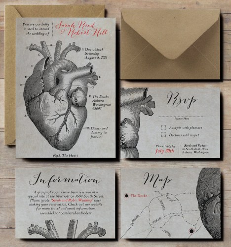 floral skull wedding invitations with mexican wedding invitations Anatomical Heart Wedding Invitations scientific wedding invites steampunk wedding invitations Victorian vintage wedding invitations