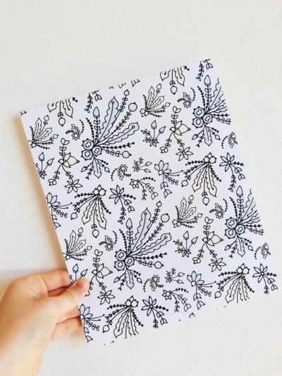 8x10 Mini Floral Wallpaper Print. High Quality by HuskidoStudios