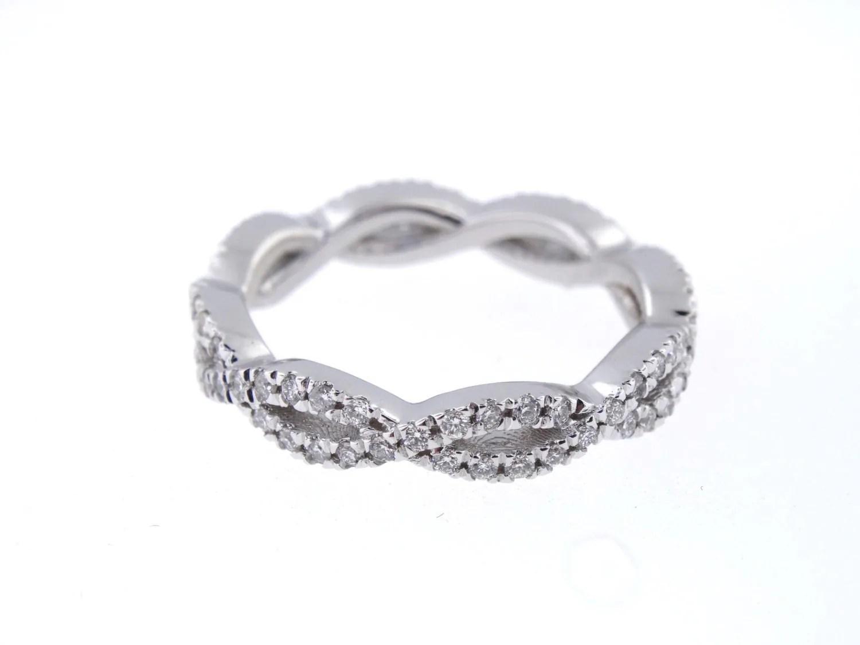 14k white gold diamond infinity eternity cross wedding bands gallery photo gallery photo gallery photo gallery photo gallery photo